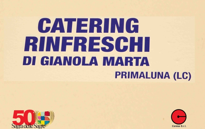 SERVIZIO CATERING SPECIALITA' RINFRESCHI DI GIANOLA MARTA